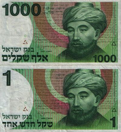 אלף שקלים, 1983, ושקל חדש, 1986